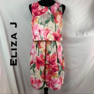 🆕 💎NWT💎 Eliza J Layer Flared Dress